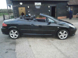 57 PEUGEOT 307CC 2.0 16v SPORT AUTOMATIC POWER ROOF CONVERTIBLE 1 OWN 67K FAB