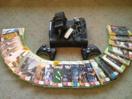 XBOX 360 in Great Condition with 2 controllers and 20+ Games