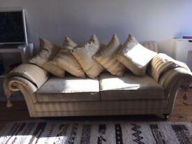 Stunning Duresta sofa in classic gold stripe