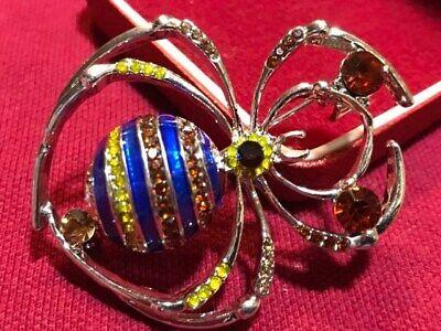 Stunning Art Deco Style Red Diamante Rhinestone Brooch Pin NEW