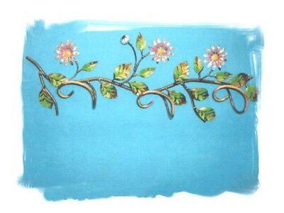Coat hangers garment bag daisies wrought iron 3 seats