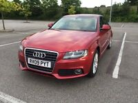 2009 Audi A4, 2.0TDI, Diesel,Long MOT April2017 (No Advisory)with Service History,only 1former keper