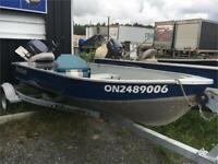2009 BOAT PACKAGE! SIMPLE FISHING BOAT ! 9.9 HP YAMAHA 4 stroke Timmins Ontario Preview