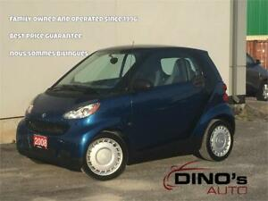 2008 smart fortwo Pure | $41 Weekly $0 Down *OAC / Moonroof