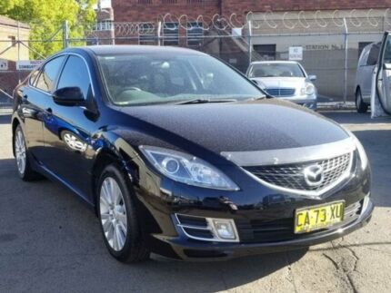 2008 Mazda 6 GH Classic Black 6 Speed Manual Hatchback Granville Parramatta Area Preview