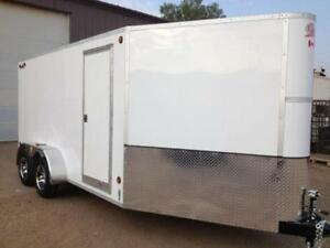 2017 CJay 7x14 Enclosed with Aluminum Wheels (White) - 3907