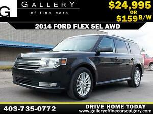 2014 Ford Flex SEL AWD $159 bi-weekly APPLY NOW DRIVE NOW