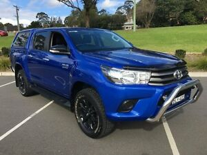 2015 Toyota Hilux GUN126R SR (4x4) Blue 6 Speed Automatic Dual Cab Utility Lisarow Gosford Area Preview