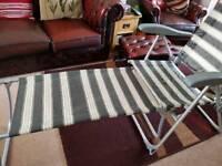 Garden recliner chairs set of 2