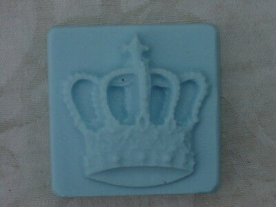QTY 2 - DECORATIVE SMALL CROWN SOAP MOLD 4713 Moldcreations