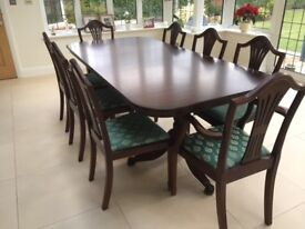 Dining Table & 8 Dining Chairs