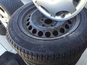 Michelin x-ice winter tires and original mercedes steel rims Kitchener / Waterloo Kitchener Area image 2