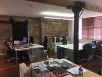 1 - 4 desks - Creative/Media style desk space in Farringdon - private (no agents)