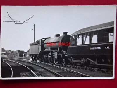 PHOTO  LNER CLASS D49 LOCO AND OBSERVATION CAR