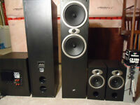 Home Theatre System Loud Speakers Powerful Sub will sell cheap
