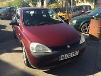 2002 Vauxhall Corsa automatic, starts and drives very well, 1 years MOT (runs out August 2017), very