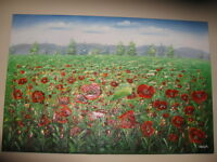Poppy Field Painting For Sale