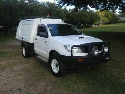 2011 Toyota Hilux KUN26R MY10 SR SINGLE CAB White Automatic Cab Chassis