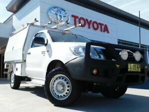 2014 Toyota Hilux KUN26R MY14 SR White 5 Speed Manual Cab Chassis Greenway Tuggeranong Preview