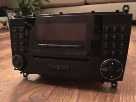 Animated Display Double Din Radio/CD Player Head Unit from Mercedes C180 Coupe - Perfect Condition