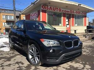 """2013 BMW X1 28i NAVI TOIT PANO CUIR ROUGE MAGS 18"""""""