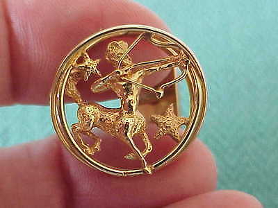VINTAGE WILLIAM RUSER DESIGNER 14K SOLID GOLD SAGITTARIUS ZODIAC CUFF LINKS