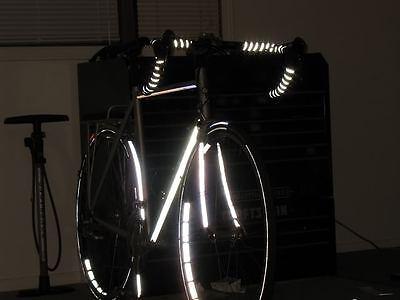 ade89afe3bb Velo REFLECTIVE Road Bike Handlebar Tape Bicycle Bar Wrap Black