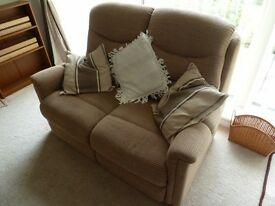 Pair of 2 seater sofas, only 8 months old. paid £800 brand new.