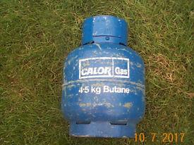 4.5 kg butane gas bottle, empty. £16