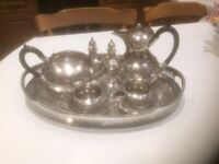 Silverware Items: good quality antique Sheffield EPNS engraved