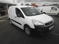 Peugeot Partner L1 850 1.6 Hdi 92 Professional Van DIESEL MANUAL WHITE (2015)