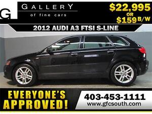 2012 AUDI A3 S-LINE QUATTRO *EVERYONE APPROVED* $0 DOWN $159/BW