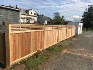 cedar fence panels big sale