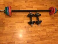20kg Bodymax Barbell Set & 19.8kg Bodymax Dumbbell Set