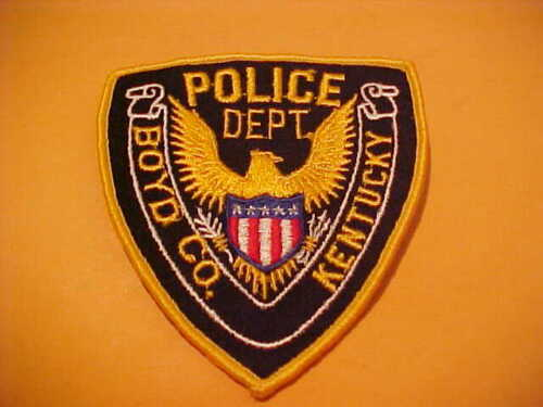 BOYD COUNTY KENTUCKY POLICE PATCH SHOULDER SIZE UNUSED