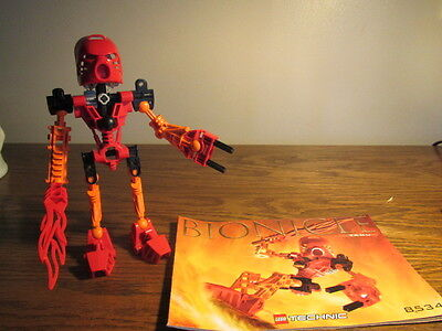 Lego Bionicle Technic 8534 Toa Tahu Complete Figure Instructions-SC No Can