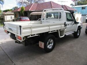 2010 Toyota Landcruiser VDJ79R 09 Upgrade GXL (4x4) White 5 Speed Manual Cab Chassis Kingsgrove Canterbury Area Preview
