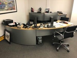 Executive Desk with cabinets for sale