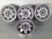 "ATS CUP 4X100, 15"" staggered set two 5.5J and two 6J. Deep dish alloy wheels"