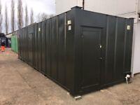 9.6m x 3m Steel Anti-vandal cabin c/w Steel external doors