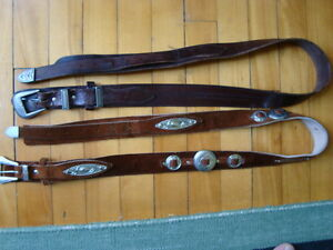 MEN'S WESTERN LEATHER BELTS BLACK&BROWN SIZE 36-38 West Island Greater Montréal image 5