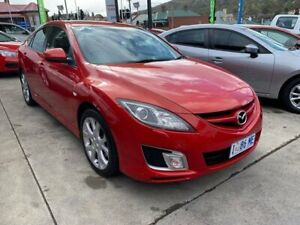 2008 Mazda 6 GH1051 Luxury Sports Red 5 Speed Sports Automatic Hatchback North Hobart Hobart City Preview