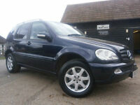 0202 MERCEDES-BENZ ML320 3.2 AUTOMATIC 4X4 7 SEATER WAGON 1 OWNER FSH AMAZING