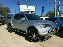 2011 Mitsubishi Triton MN MY11 GLX-R Double Cab Silver 5 SPEED Manual Utility Southport Gold Coast City Preview