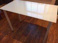 Glass Top Table / Desk / Nail Bar - Ikea