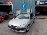 PEUGEOT 206 1.4 STYLE HDI 3d 68 BHP small engine turbo diesel (silver) 2002