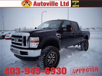 2008 ford f350 diesel crew cab lariat 4x4 LIFTED $ 25988