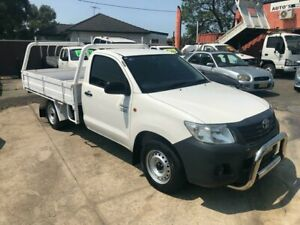 2012 Toyota Hilux 2012 Toyota Hilux TGN16R Workmate Cab Chassis Single Cab 2dr White Manual