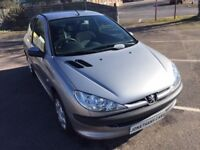 PEUGEOT 206 S 1.4 PETROL, 2 OWNERS FROM NEW, LOVELY CONDITION, CHEAP TO INSURE