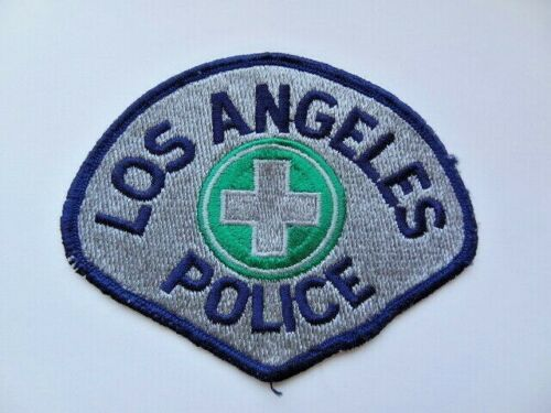 Vintage Old Cut Edge Los Angeles Traffic Unit Patch Obsolete Cheese Cloth Used